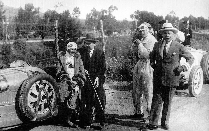 Eliska Junkova, Bugatti Type 35B at the 1928 Targa Florio