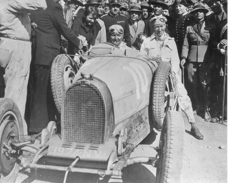 Alberto Divo drove the Bugatti 35C to victory in the 1929 Targa Florio