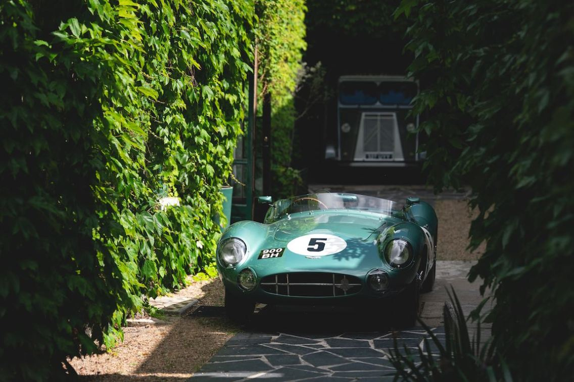 Victorious Aston Martin DBR1 of Roy Salvadori (GB) and Carroll Shelby (USA) (Photo: Nick Dungan / Drew Gibson Photography)