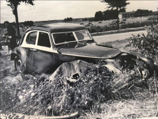 1939 Corniche crash during testing in Chateauroux France