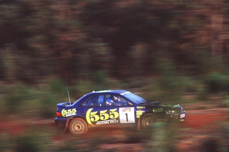 The 68 Subaru Impreza Group A cars built by Prodrive, including this one driven by Colin McRae, are supported by Prodrive Legends