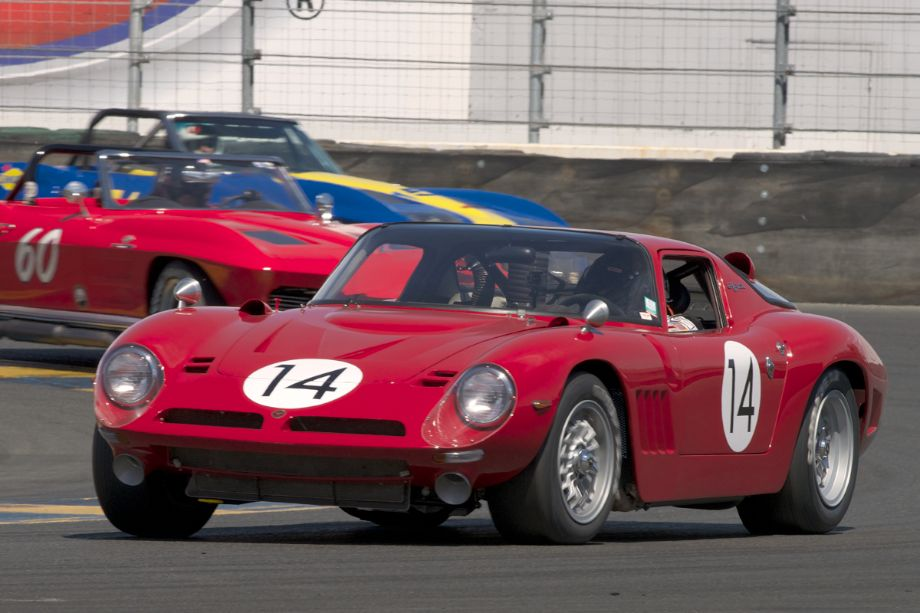 John Fudge in his 1968 Bizzarrini GT America in eleven.