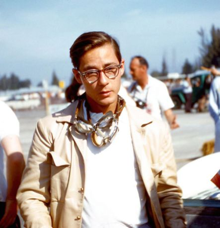 """With those glasses and youthful appearance """"Kansas City Flash"""" Masten Gregory did not look like the world class driver that he was. BARC boys photo."""