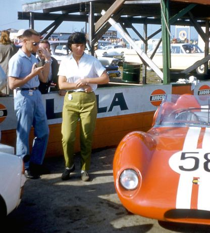 Chuck and Suzie Dietrich on the pre-grid on race day. BARC boys photo.