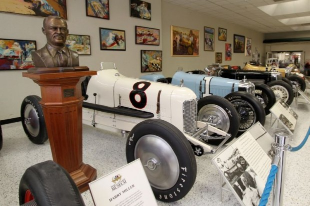 Rear-drive and Front-drive Millers at Indianapolis Motor Speedway Museum