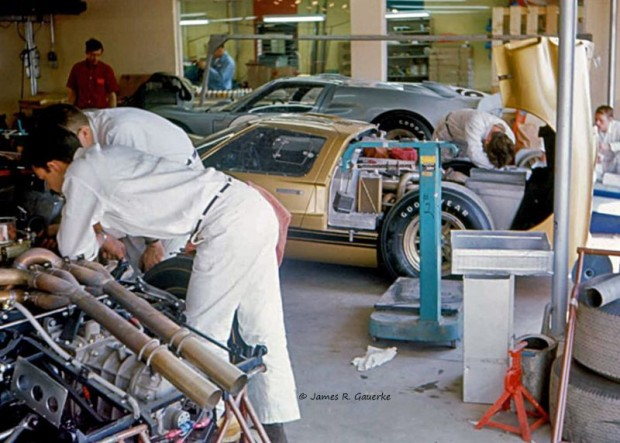 Holman Moody garage Daytona 1967 24 Hours