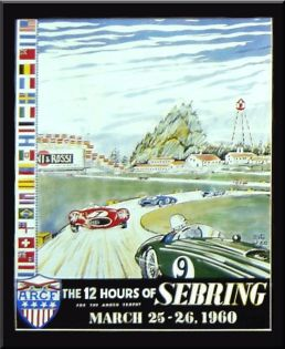 In the '50s and '60s the automotive artist known as Zito was well known for racing posters and prints. SIR photo.