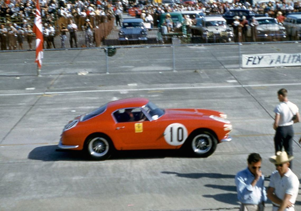 Augie Pabst and Ed Hugus finished fourth overall in this NART Ferrari 250 GT SWB.  BARC boys photo.