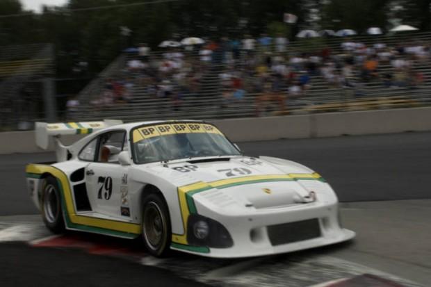 Woody Perkins charging hard in his Porsche 935 K-3.