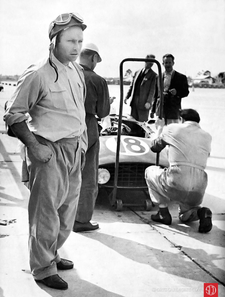 Juan Manuel Fangio at Sebring (SIR photo)