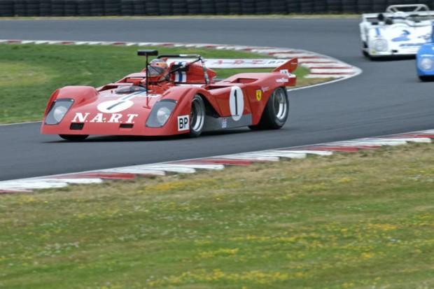 Ferrari/Sparling 312 of John Goodman in Turn 5.