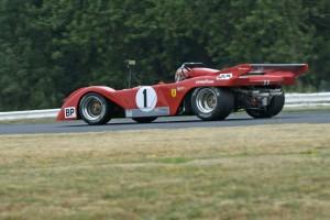 Ferrari/Sparling 312 of John Goodman out of Turn 6.