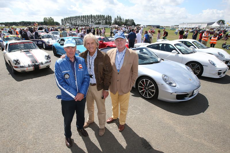 Richard Attwood, Derek Bell and John Fitzpatrick at the Porsche 911 celebration