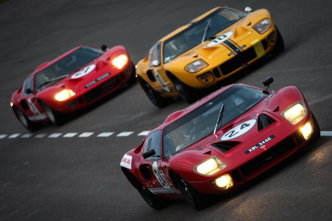 The fantastic GT40s of the Alan Mann Trophy class (Photo: Marcus Dodridge)