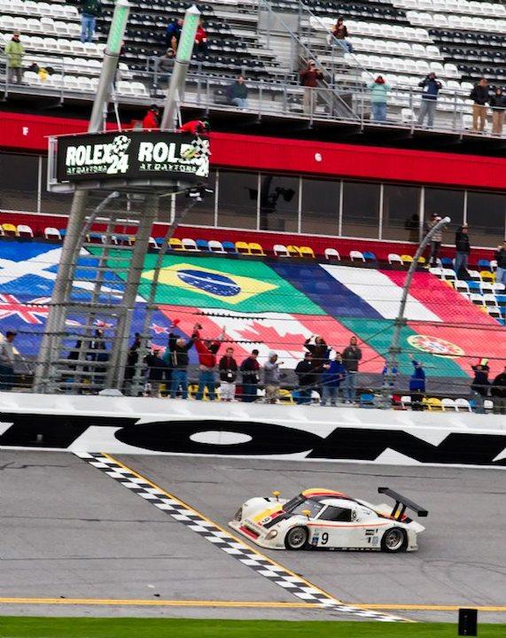 Action Express Racing Riley Porsche takes checkered flag