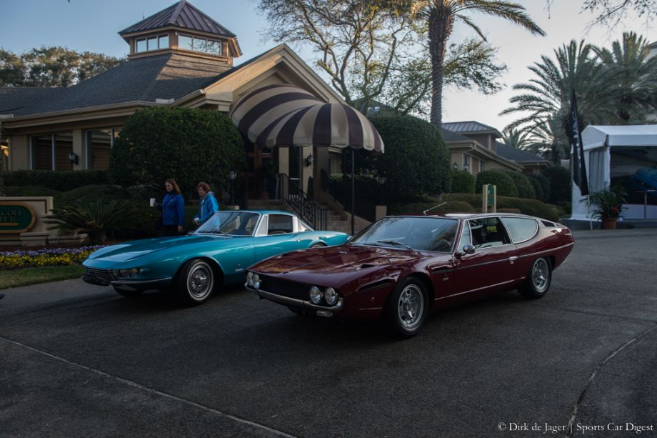 1963 Chevrolet Corvette Rondine Pininfarina Coupe and 1971 Lamborghini Espada Series II