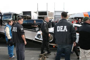Meyer with the 935 K3 loading onto the DEA hauler (photo: Bruce Meyer)
