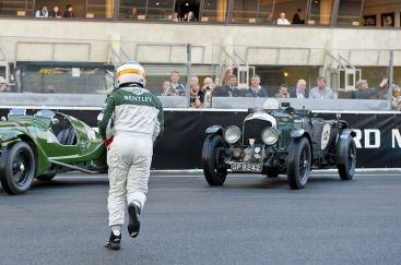 Derek Bell makes running Le Mans start