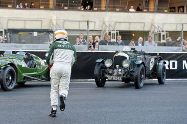Derek Bell makes running Le Mans start