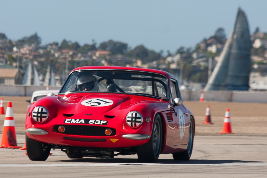 Rick Carlile and his 1969 TVR Vixen S2 during Sunday's race.