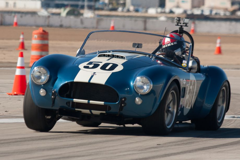 Erich Joiner exits turn nine in his 1964 Cobra.