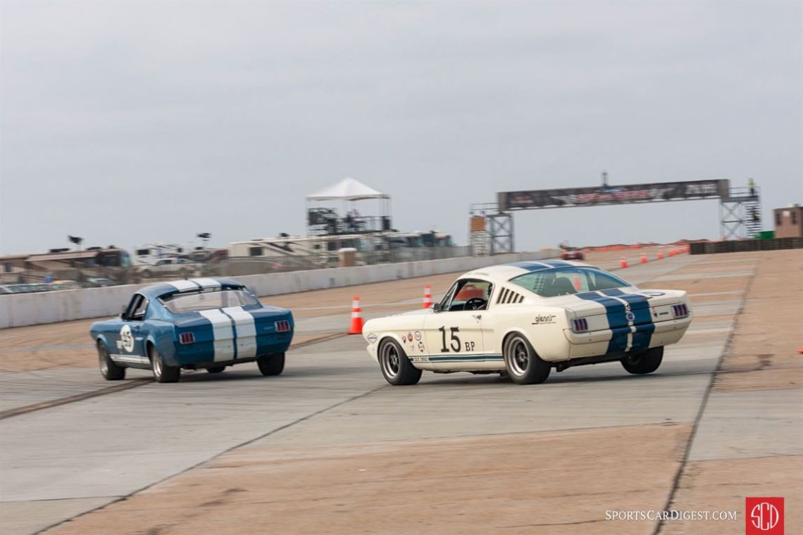 #45 1966 Shelby GT350 #15 1965 Ford Mustang GT350