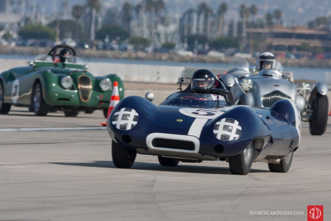The Lotus, the Allard and the Jaguar.