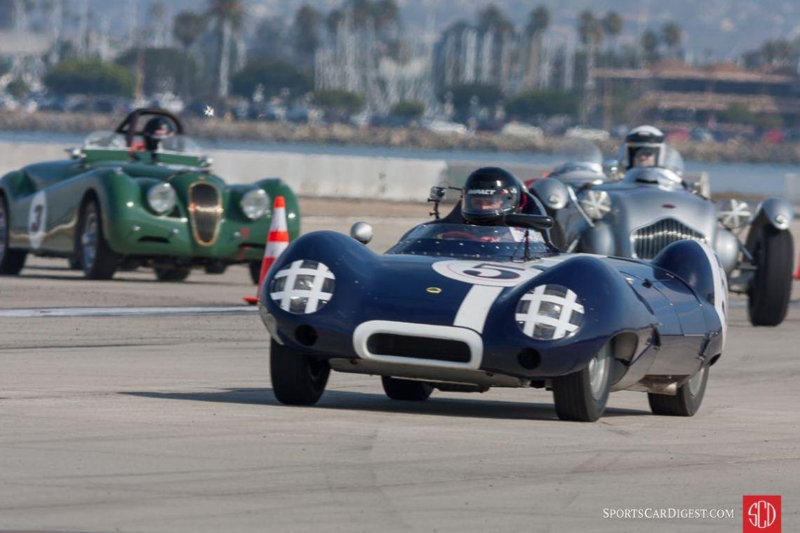The Lotus, the Allard and the Jaguar.