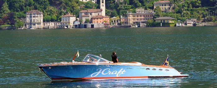 J Craft boat on Lake Como picture