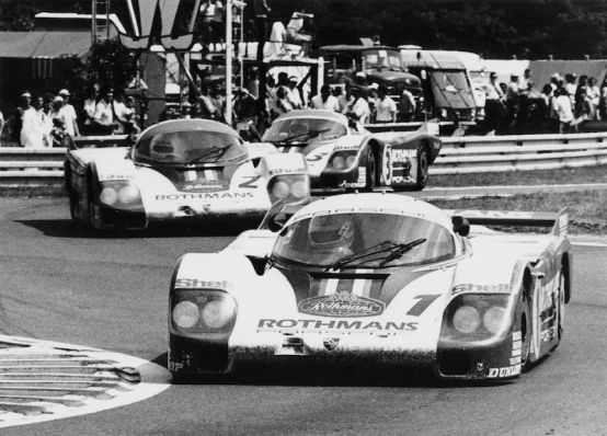 1982 Le Mans race: Positions 1-3 were occupied by the Type 956 Porsche works cars
