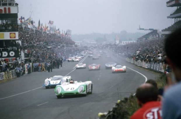 June 1969 24h Le Mans; No. 12: Vic Elford and Richard Attwood in a 917 L Coupe; No. 20: Jo Siffert and Brian Redman in a 908/02