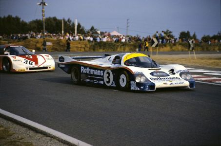Porsche Type 956 in Le Mans 1983, Drivers: Vern Schuppan, Al Holbert and Hurley Haywood, overall winners