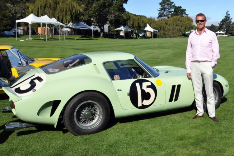 Tim Scott with 1962 Ferrari 250 GTO s/n 3505GT