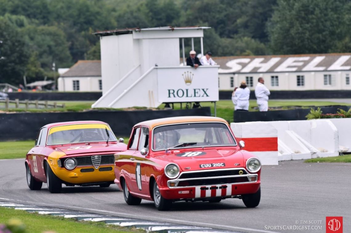 1965 Ford-Lotus Cortina MkI and 1965 Alfa Romeo 1600 GTA