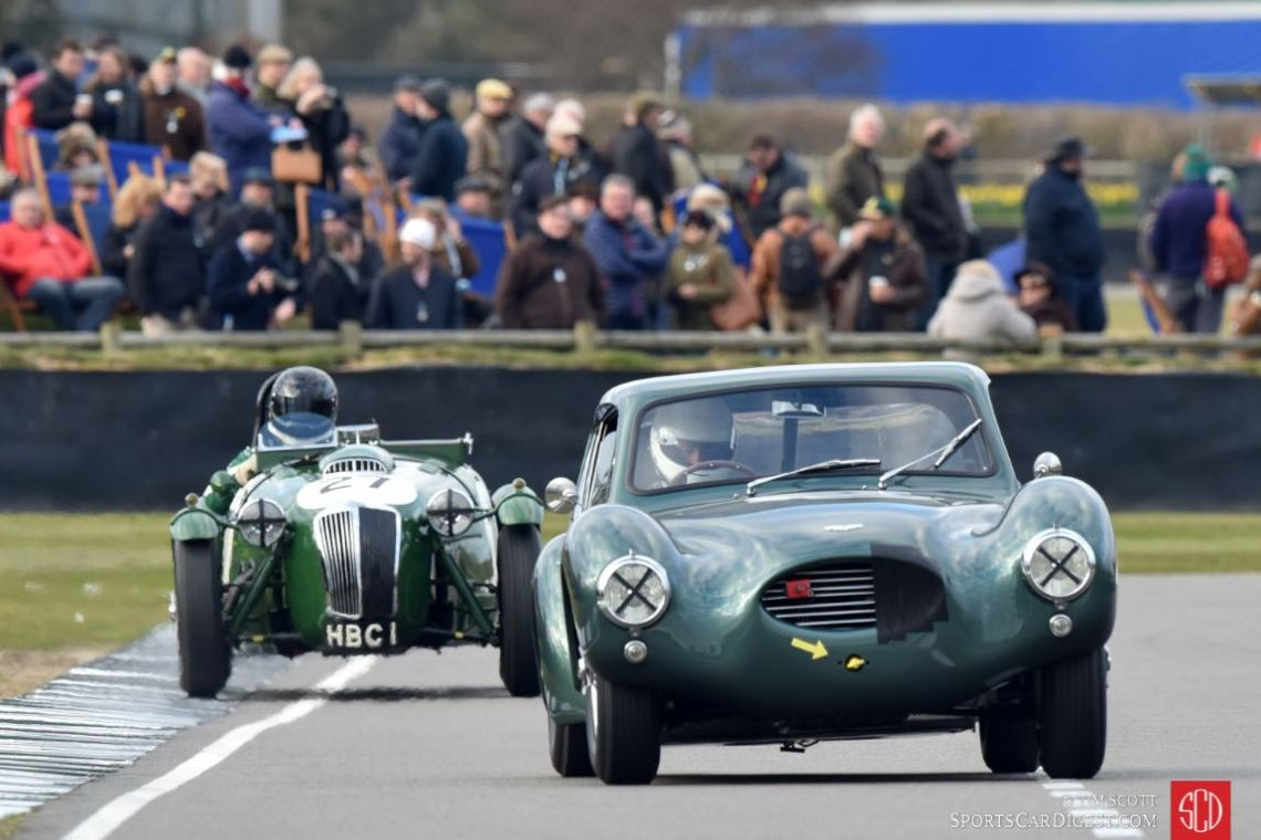 1953 Aston Martin DB3 Coupe and 1950 Frazer Nash Le Mans Replica