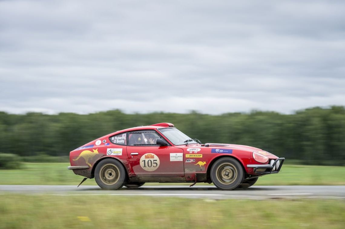 Car 105. Mark Pickering(AUS) / Dave Boddy(AUS)1973 - Datsun 240Z 2393, Peking to Paris 2016., Peking to Paris 2016. Day 16. Omsk - Tyumen