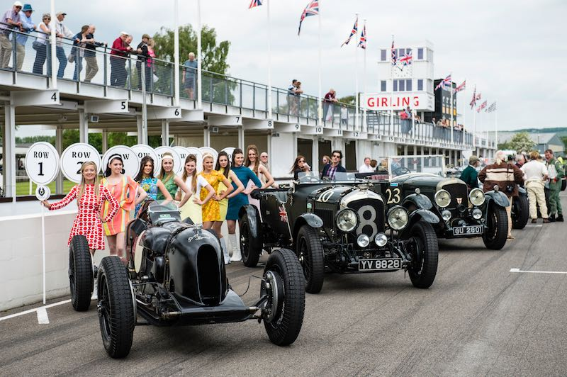 Bentley display at Benjafield's Sprint at Goodwood, May 2015