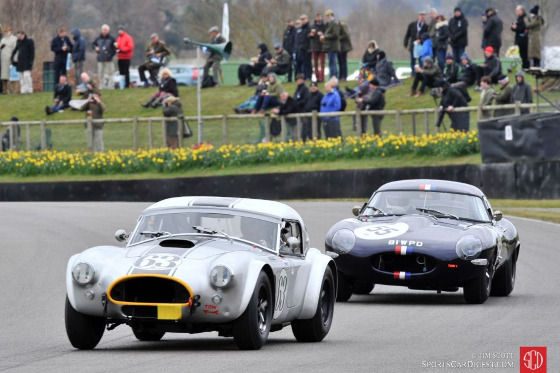 1963 AC Cobra 289 and 1962 Jaguar E-type 'Semi-lightweight Lowdrag'