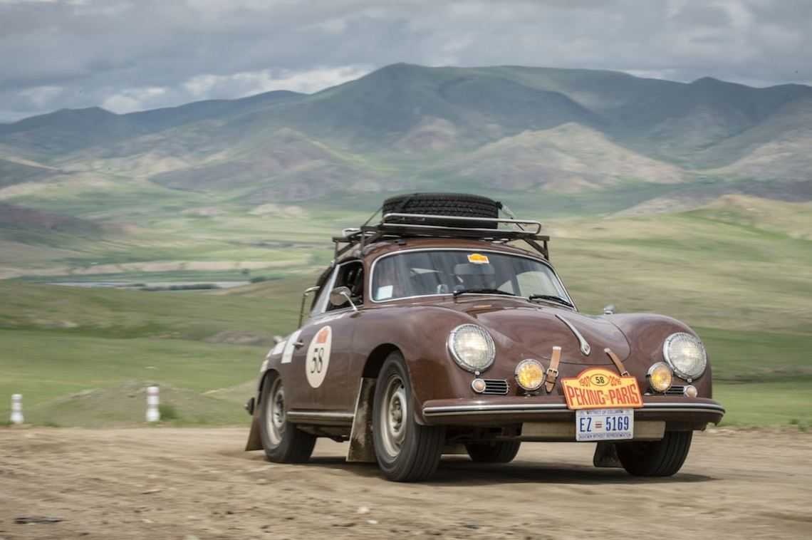 Car 58. Tony Connor(USA) / Jill Kirkpatrick(USA)1956 - Porsche 356A1600, Peking to Paris 2016., Peking to Paris 2016. Day 07 Bulgan - Murun