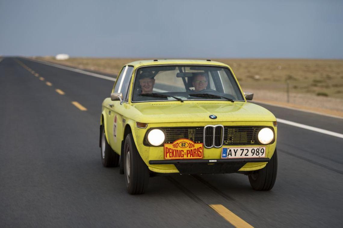 Car 82. Ib Sorensen(DK) / Mogens Lauritsen(DK)1973 - BMW 2002 TII1997, Peking to Paris 2016., Peking to Paris 2016. Day 02. Datong - Erenhot
