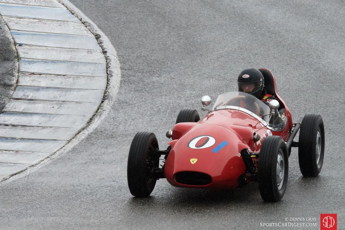 Mark Sange - 1959 Lancia Dagrada during the damp Sunday group 1 race.