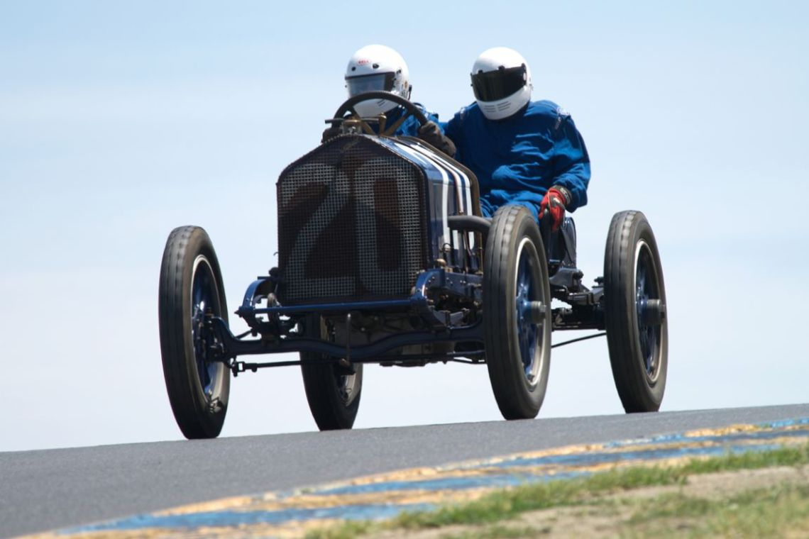 1911 National driven by Brian Blain and his intrepid riding mechanic.