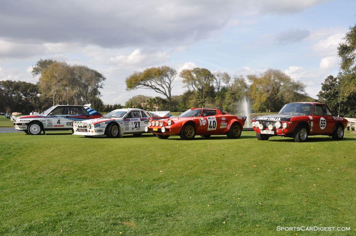 1988 Lancia Delta Integrale, 1983 Lancia 037, 1975 Lancia Stratos and 1969 Lancia Fulvia