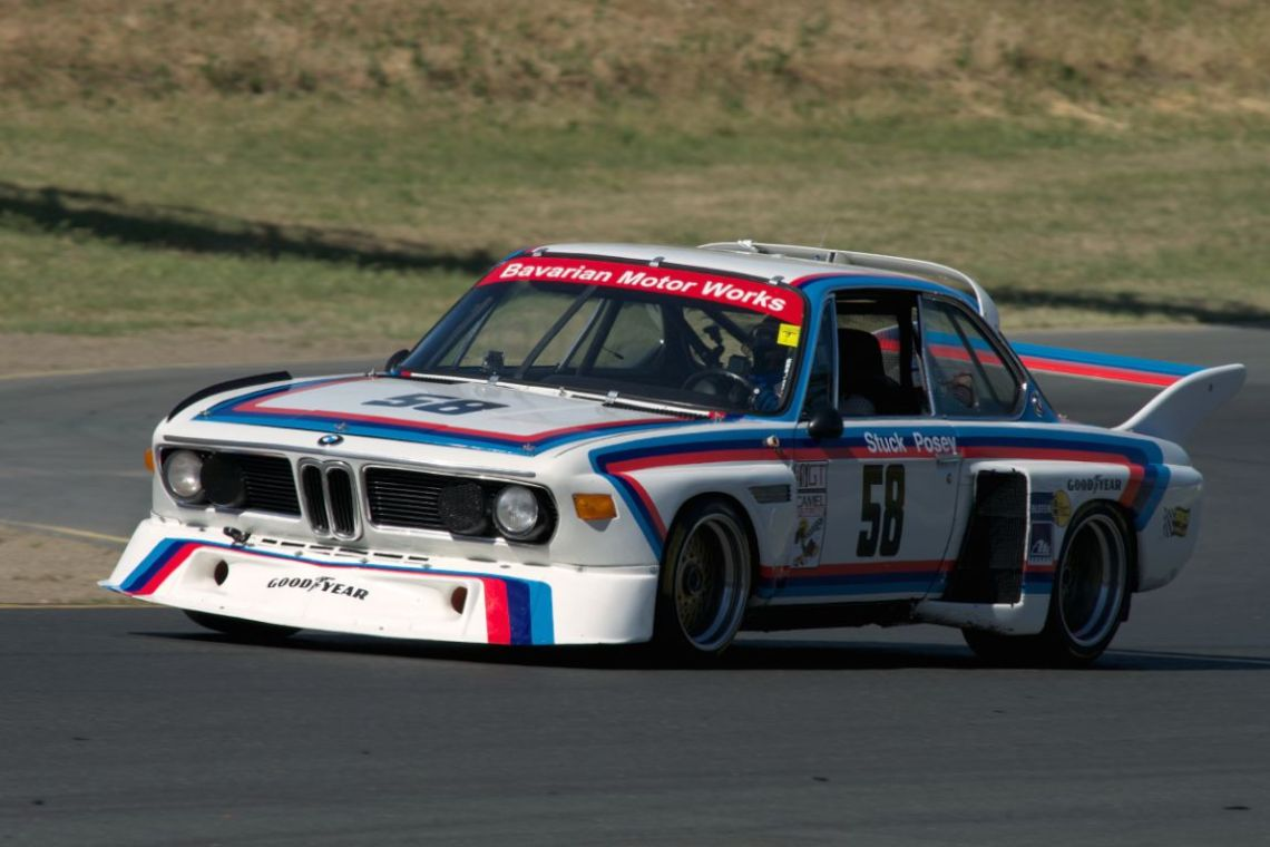 "My vote for ""drive of the weekend"" goes to Henry Schmitt in this 1974 BMW 3.5 CSL chassis no.987. This car was raced by Hans Stuck and Sam Posey in the 1974/75 IMSA season. The real story and what makes this car/driver/crew combination so interesting is this, the car has been down for two years undergoing an engine and chassis rebuild. Bill Watson's RoadRockets garage here at Sears Point got the CSL up and running late Saturday afternoon. Henry took to the track Sunday afternoon in the group 13a with no seat time in the car for the past year or more. Starting 21st of 22 cars Henry drove the CSL through the pack ending the race in fourth over al second in class. To watch the car in traffic was an education in clean fast driving."