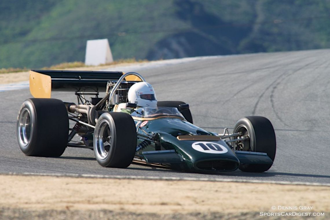 Bruce Leeson's McLaren M10B early Saturday.