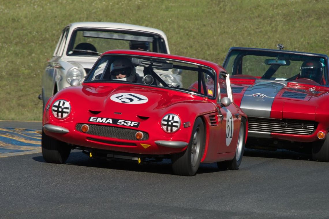 Rick Carlile's TVR Vixen SR in turn two.