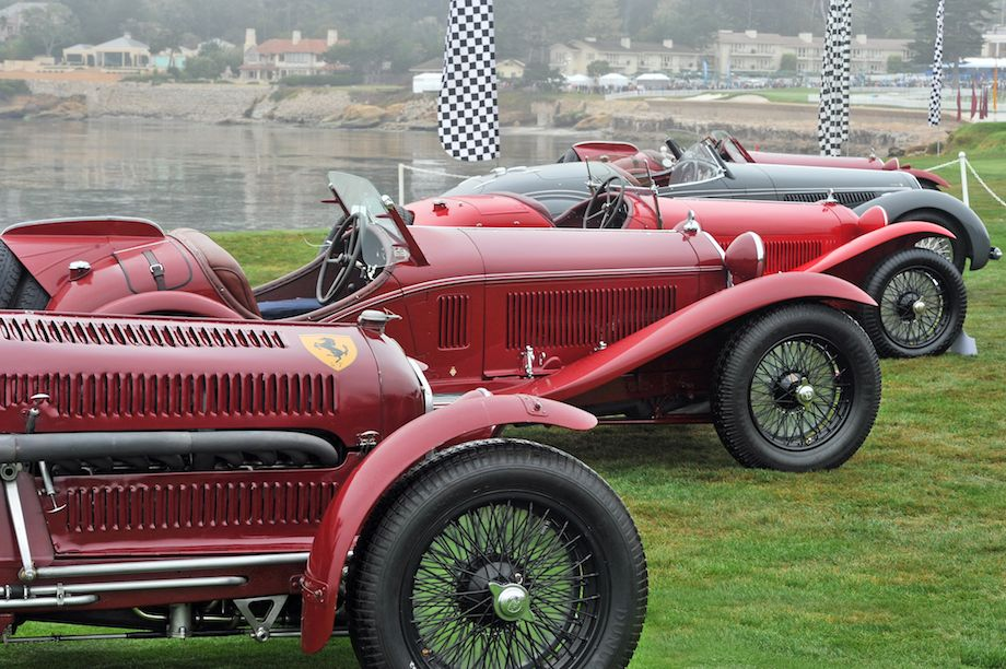 Alfa Romeo 8C Class at Pebble Beach Concours