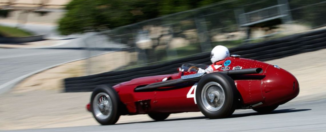 Tom Price down The Corkscrew in his Maserati 250F.