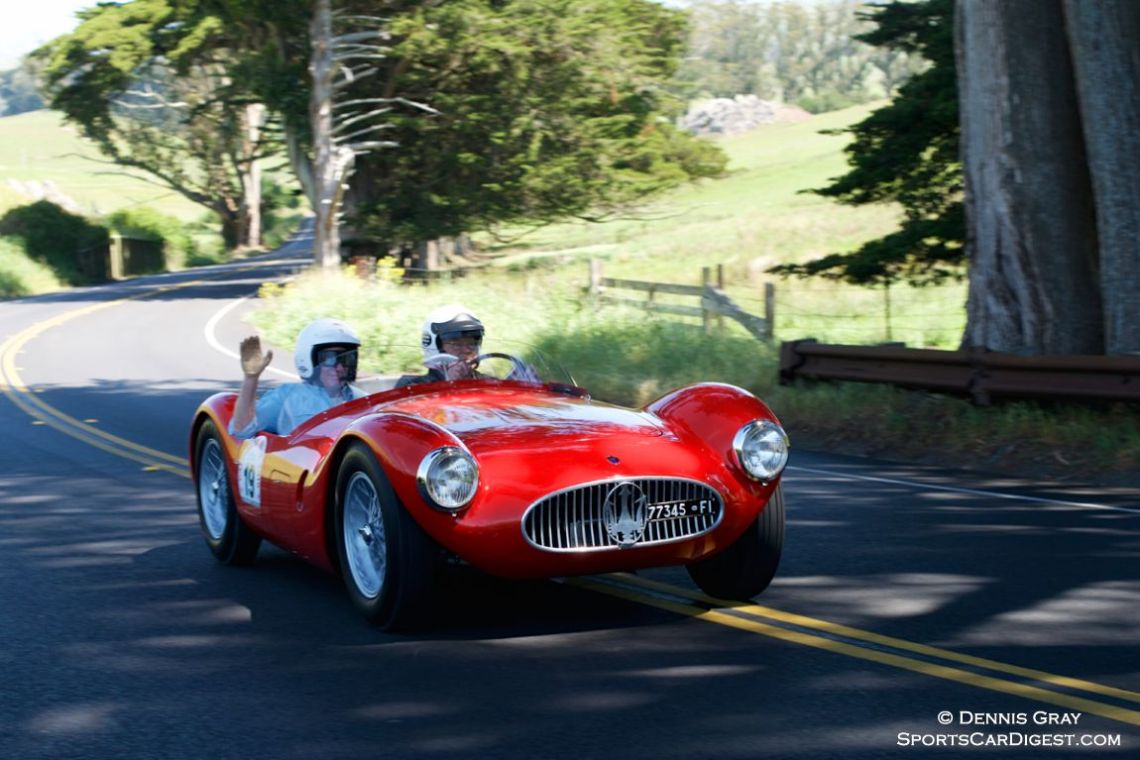 1954 Maserati A6GCS driven by Jonathan Feiber and Ivan Zaremba.