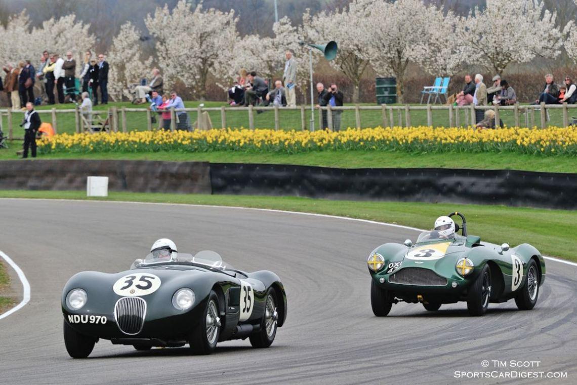 Jaguar C-Type and Aston Martin DB3S